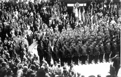 Muster of the Vaterländische Front in 1936